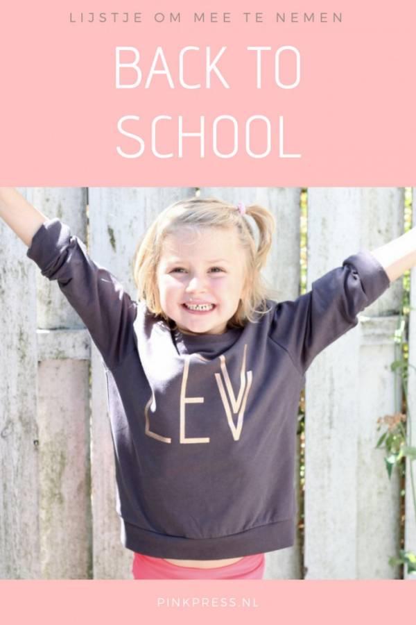 Back to school - dit lijstje kun je meenemen