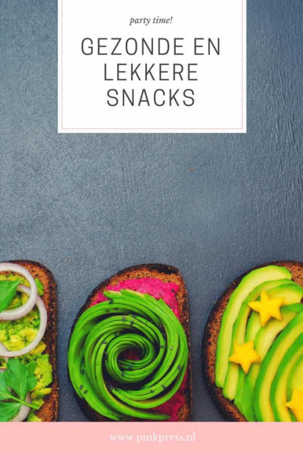 gezonde en lekkere snacks voor op een feestje