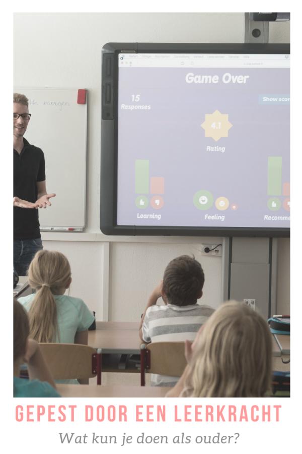 Wat te doen tegen een docent die pest