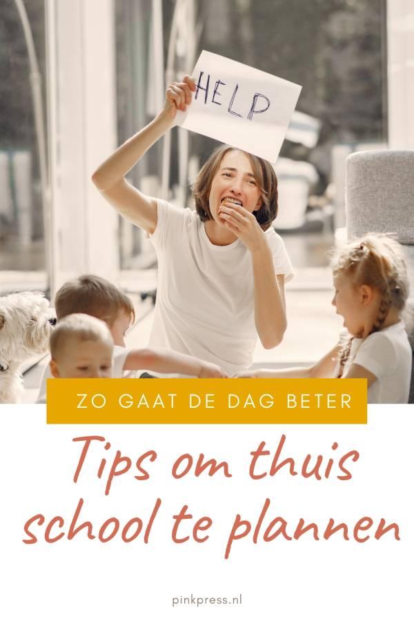 Handige thuisschool tips en werk organiseren